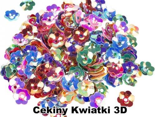 Cekiny Kwiatki 3D