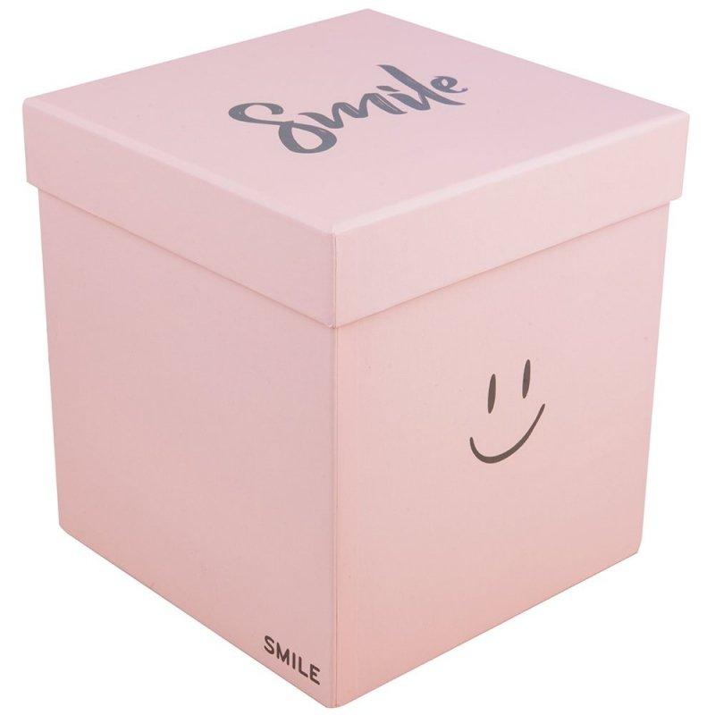 """Flower Box Kwadrat """"Smile"""" Jasny Róż Średni 1"""