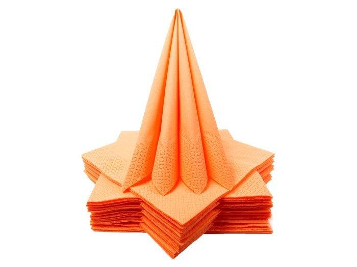 Serwetki Składane Pomarańczowe [Komplet 10 paczek]