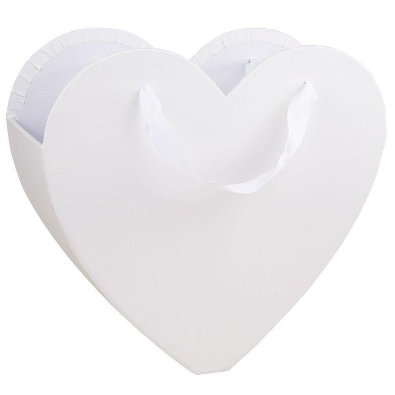 Flower Box Osłonka Serce Białe Duże 1