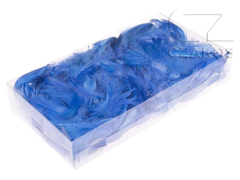 Piórka w pudełku - Niebieski [Komplet 10szt.]