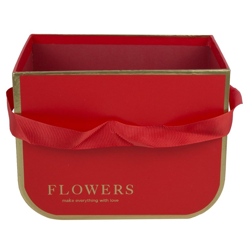 Flower Box Kwadratowy Czerwony Litery Duży