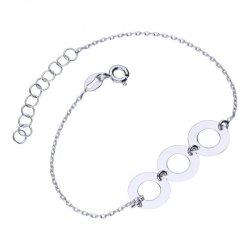 Celebrytka bransoletka ring srebro 925 kółka 24H