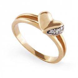 ARTES-Pierścionek złoty zaręczynowy A-16/375