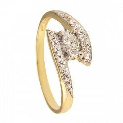 Pierścionek złoty zaręczynowy PR.375