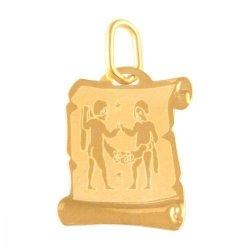 Zawieszka złota 585 znak zodiaku Bliźnięta - Zobli