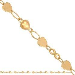 Bransoletka złota, damska 585 - 44642