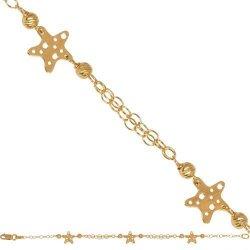 Bransoletka złota, dziecięca dla dzieci 585 - 44679
