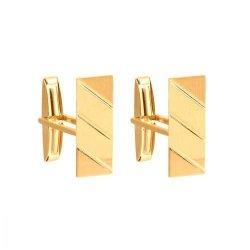 Złote spinki do mankietów 585 - Sr009