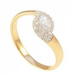 ARTES- Pierścionek złoty zaręczynowy  612/375