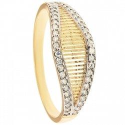 ARTES-Pierścionek złoty obrączka 629/375