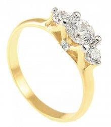 ARTES- Pierścionek złoty zaręczynowy W-5010