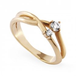 ARTES-Pierścionek złoty zaręczynowy A-5/375