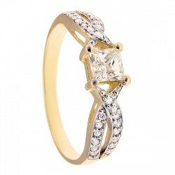 ARTES-Pierścionek złoty zaręczynowy 639/375