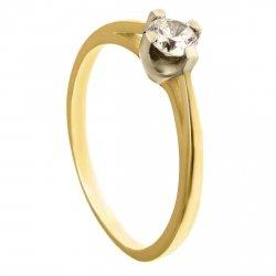 ARTES-Pierścionek złoty zaręczynowy 24H PROMOCJA! A-117/375