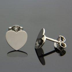 Kolczyki celebrytki srebrne SERCA HEART