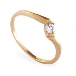 ARTES-Pierścionek złoty zaręczynowy A-45/375