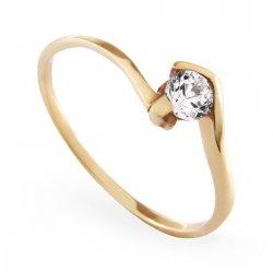 ARTES-Pierścionek złoty zaręczynowy A-18/375