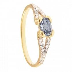 ARTES-pierścionek złoty z akwamarynem 675/375