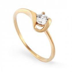 ARTES-Pierścionek złoty zaręczynowy A-96/375