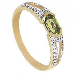 ARTES-pierścionek złoty oliwin 24H PROMOCJA! 660/375
