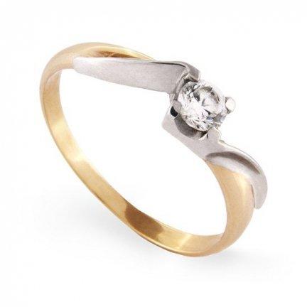 ARTES-Pierścionek złoty zaręczynowy A-78/375