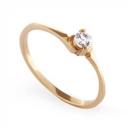 ARTES-Pierścionek złoty zaręczynowy A-36/375