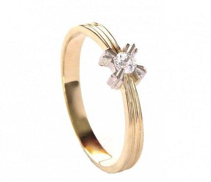 Pierścionek z brylantem zaręczynowy 24H PROMOCJA! PR. 585