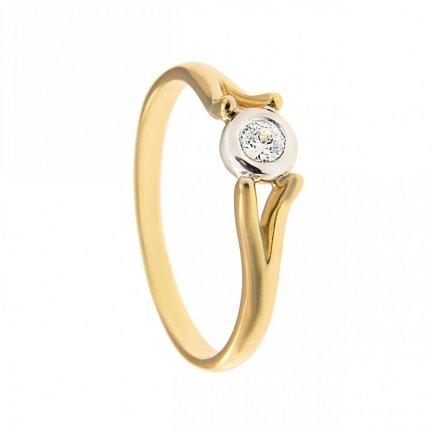 ARTES-Pierścionek złoty zaręczynowy BC-113 PR. 375