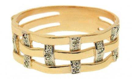 ARTES- Pierścionek złoty obrączka W-5047