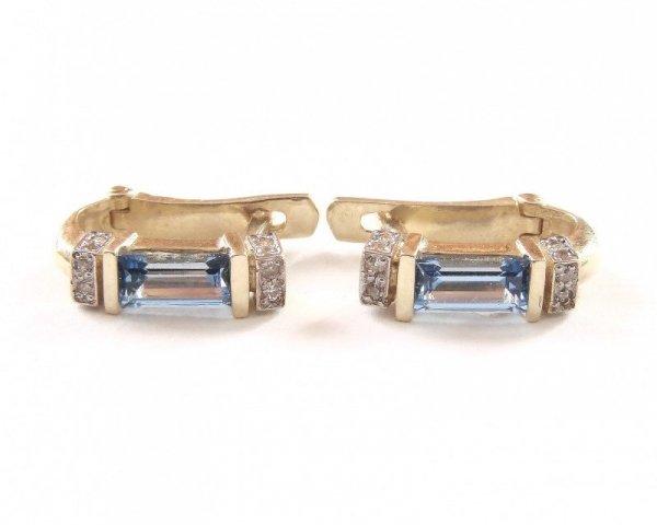 Kolczyki złote 585 na klapkę, zatrzaskowe - ARTES-Kolczyki złote 470 PR. 585