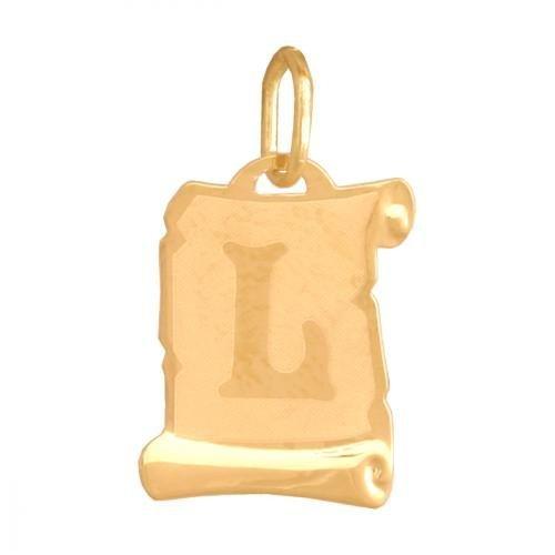 Zawieszka złota 585 litera, literka L -  Lv02l