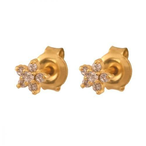 Złote kolczyki 585 - Kolczyki złote 585 sztyft - 19954