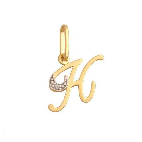 Zawieszka złota 585 litera, literka K -  34827