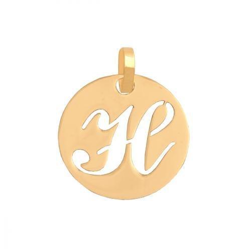 Zawieszka złota 585 litera, literka H -  35541