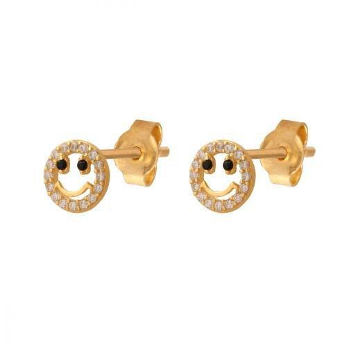 Złote kolczyki 585 - Kolczyki złote 585 sztyft - 38926