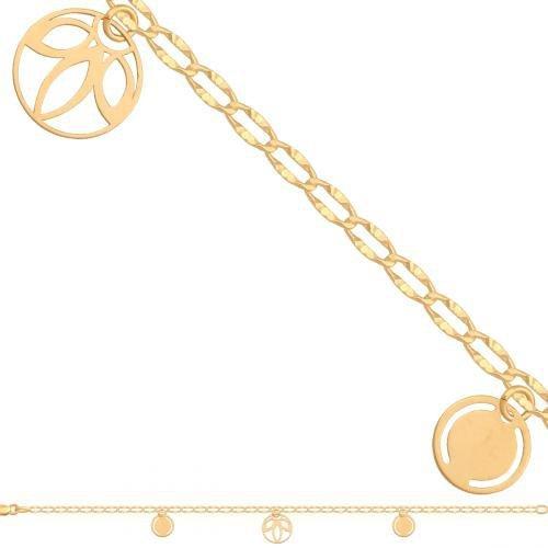Bransoletka złota, damska 585 - 44395