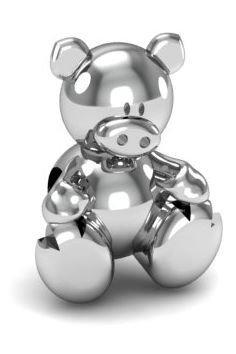 Zawieszka modułowa koralik charms srebro 925 prosiaczek