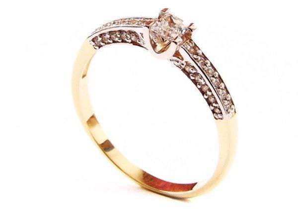 ARTES-Pierścionek złoty zaręczynowy 375 PROMOCJA! 24H