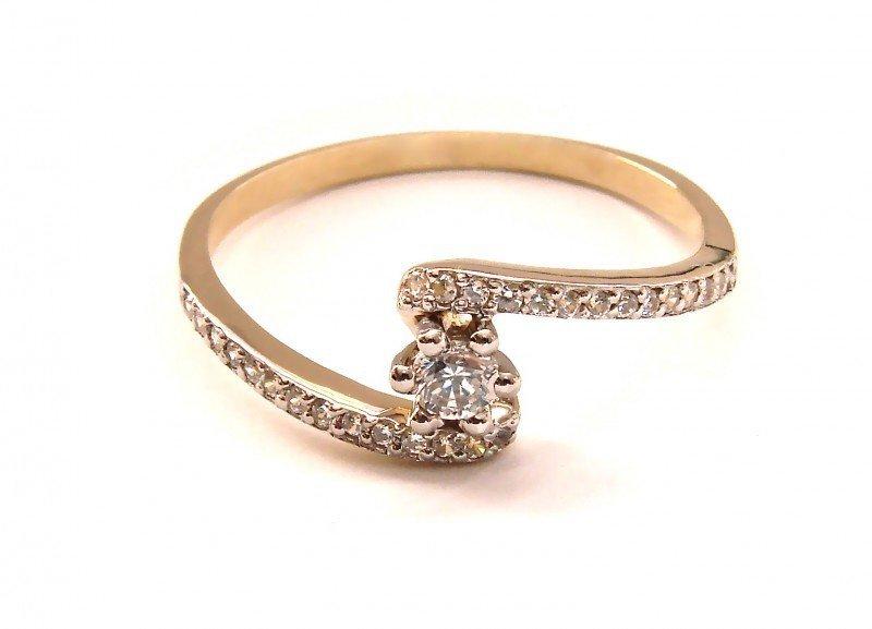 Pierścionek z brylantami zaręczynowy 24H PEOMOCJA! PR. 585
