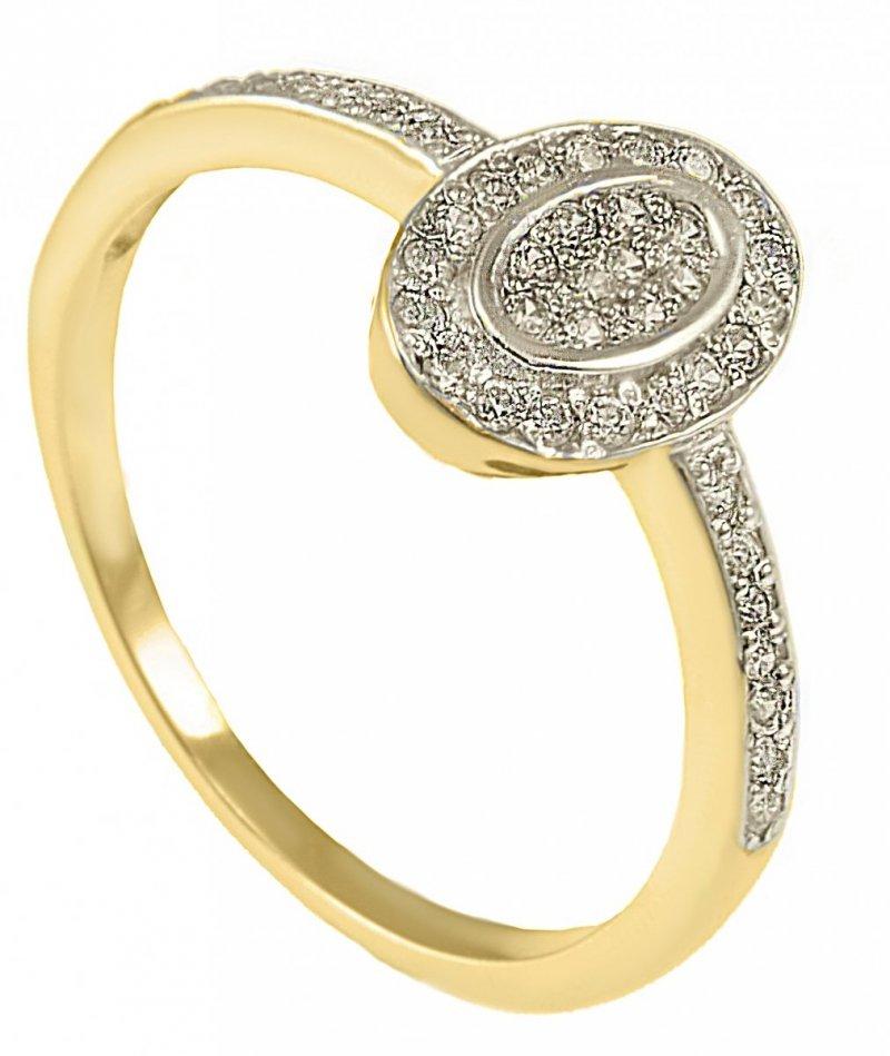 ARTES- Pierścionek złoty zaręczynowy 24H W-5040