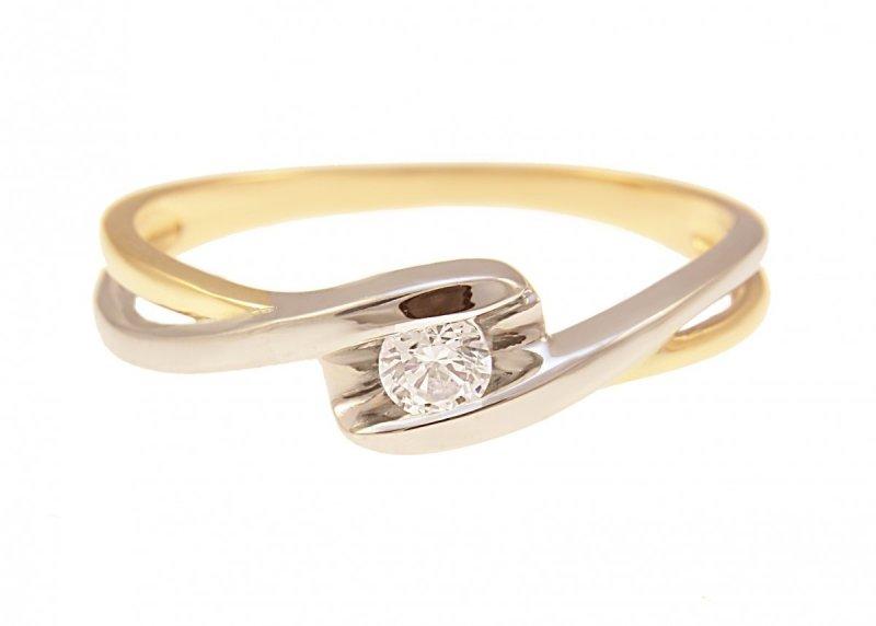ARTES- Pierścionek złoty zaręczynowy 585