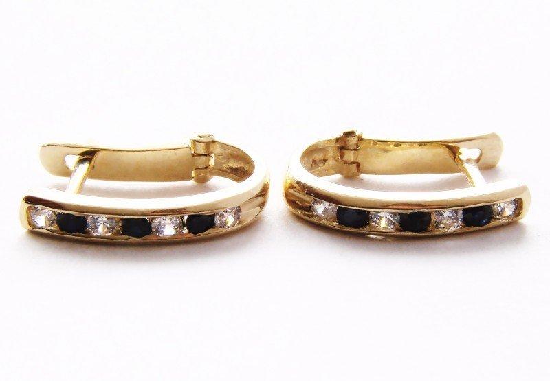 Kolczyki złote 585 na klapkę, zatrzaskowe - ARTES-Kolczyki złote 321 PR. 585