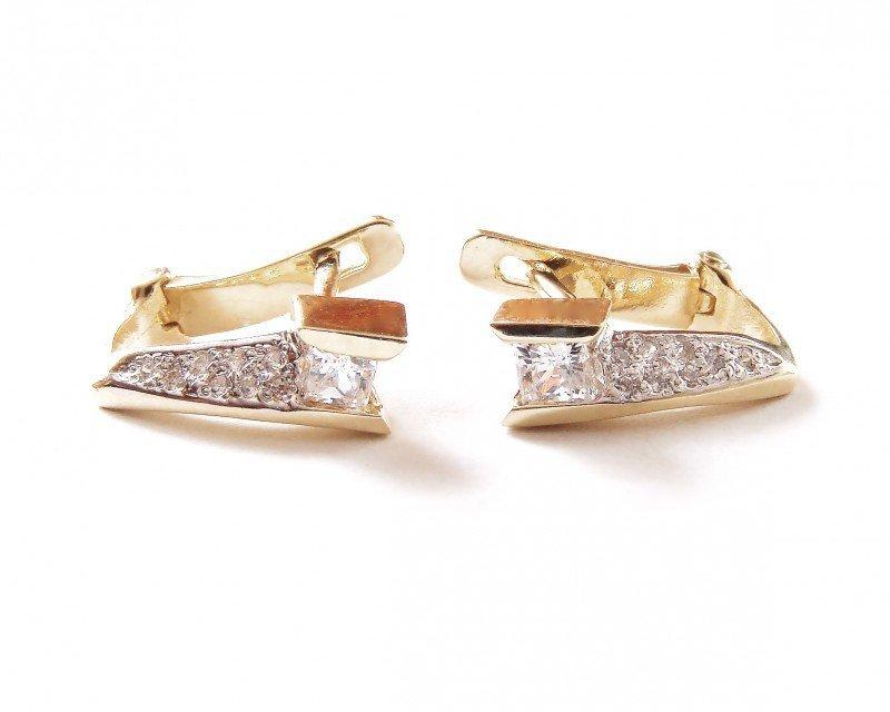 Kolczyki złote 585 na klapkę, zatrzaskowe - ARTES-Kolczyki złote 533 PR. 585
