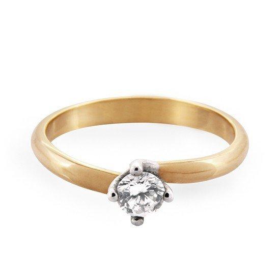 ARTES-Pierścionek złoty zaręczynowy 24H PROMOCJA! A-1/375