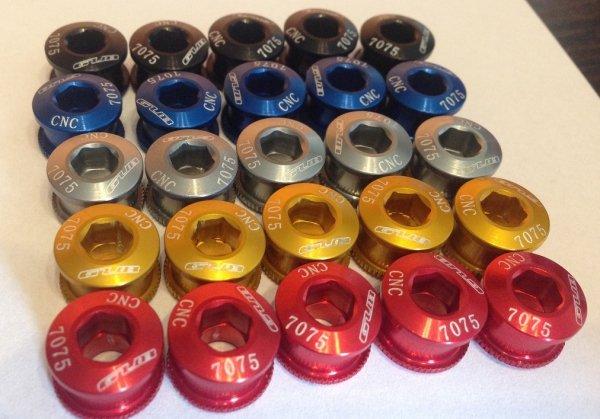 Gubbike-Aluminiowe śruby do korb z kominami 5 kolorów (2014)