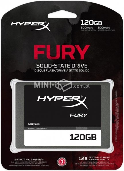 Dysk SSD Kingston HyperX Fury 120GB 2,5 SATA3