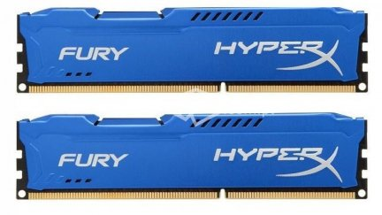 Pamięć RAM Kingston HyperX Blue DIMM DDR3 8GB (2x4GB) 1600MHz HX316C10FK2/8