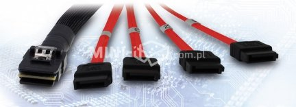 Kabel SFF-8087 na 4X SATA cross-over