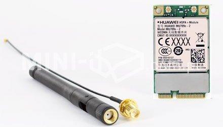Zestaw Modem 3G Huawei MU709S-2 HSPA / UMTS / EDGE na MiniPCIe, Antena